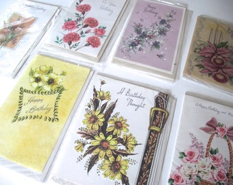 Vintage Birthday Cards, Assortment of 9 Unused Vintage Cards (A1)