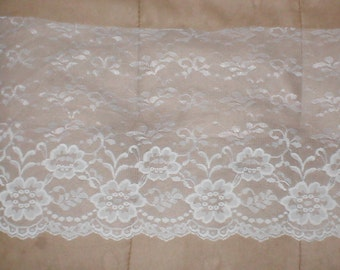 Vintage Chantilly Lace Fabric 11 inches wide