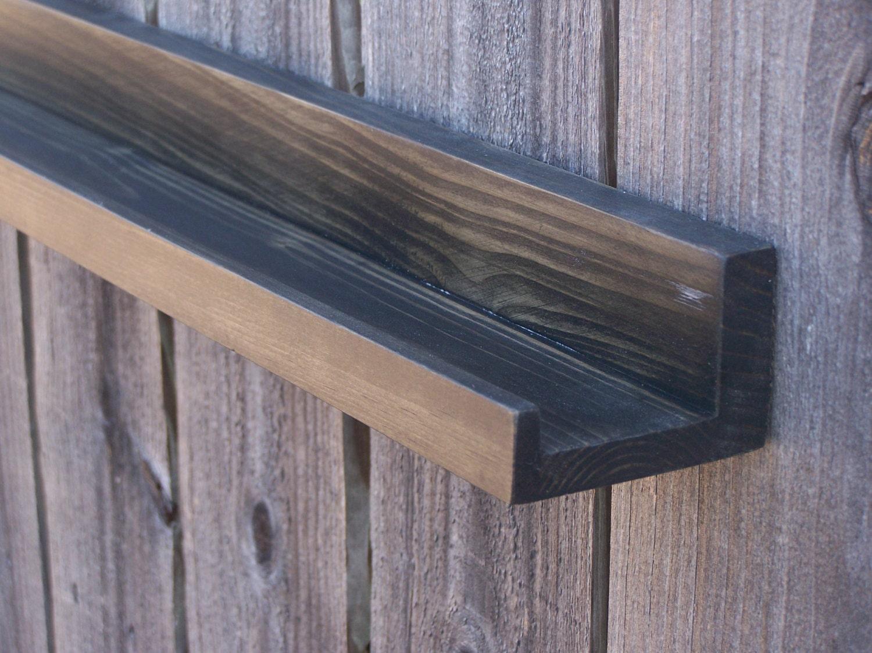 narrow floating ledge shelf picture ledge shelf spice rack. Black Bedroom Furniture Sets. Home Design Ideas