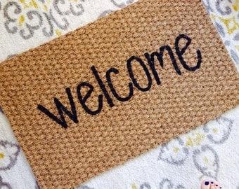 Welcome doormat!  Fun welcome mats for fun people!