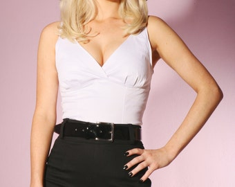 SALE Kitty Top in Hollywood White
