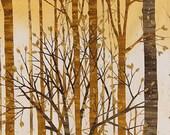 Sound of the Woods - Earth Metallic - Robert Kaufman - Fat Quarter