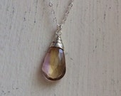 Ametrine pendant Necklace - gold silver or rose gold