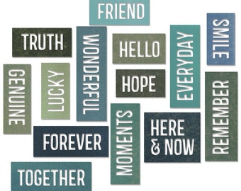 Tim Holtz Alterations Sizzix Thinlits 16 Die Set Emboss FRIENDSHIP WORDS Block Truth   New for 2015