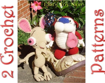 Ren and Stimpy 2 Crochet Patterns by Erin Scull