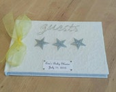 Baby Shower Guest Book - Silver Stars