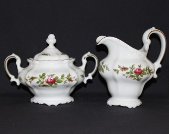 Johann Haviland Traditions Moss Rose Creamer and Sugar Bowl Set - Item 318