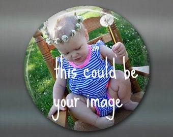 "3.5"" custom refrigerator magnets - personalized gifts for grandparents - photo magnet keepsake gifts - kitchen decor fridge magnet MA-CUST-1"
