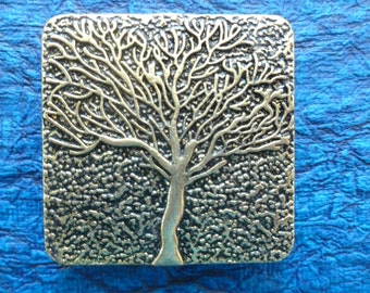 Large Tree Magnet - Brass Colored
