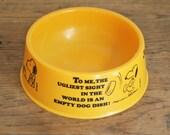 Vintage Peanuts Snoopy Plastic Dog Bowl