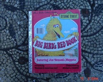 Big Bird Red Book by Rosanne and Jonathan Cerf - a Little Golden Book  - Sweet