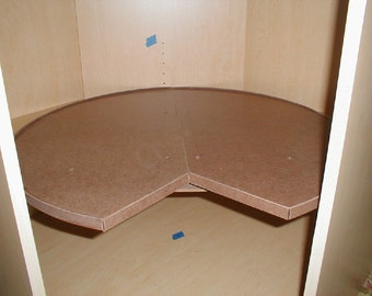 30 Inch Pie Cut Lazy Susan . Retrofit your lower corner cabinets in minutes with a Retrolazysusy.