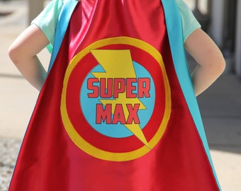 Free mask sale - Customized Full Name Cape -  fast delivery - PERSONALIZED Kids SUPERHERO CAPE