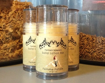 Femme Fatale Solid Lotion or Perfume Stick 1oz Tube Preservative Free Aromatherapy Solid Perfume Moisturizing Foot Lotion