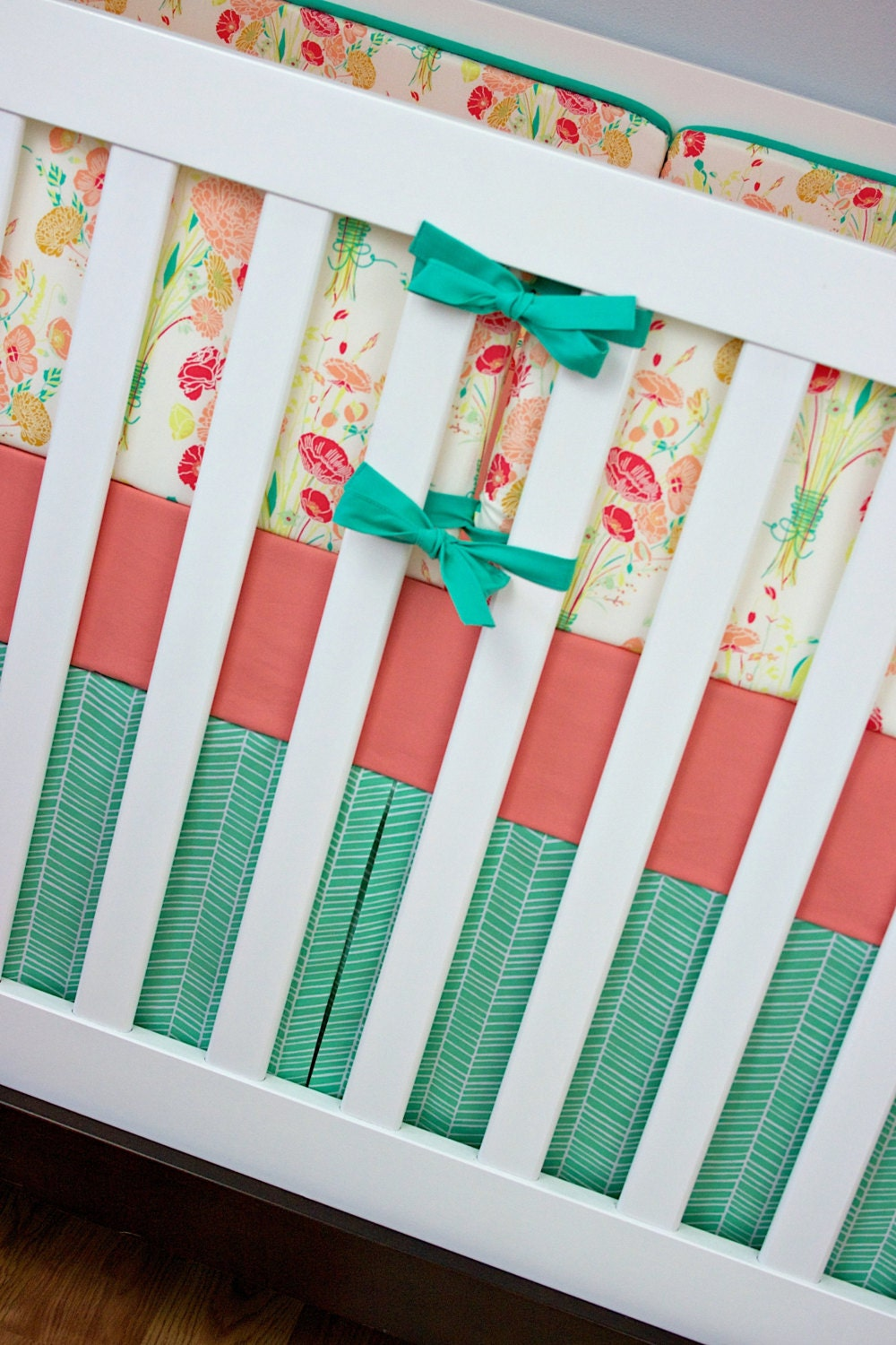 Vintage Floral Bouquet Crib Bedding Girl Baby By Modifiedtot