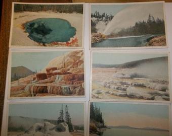 Yellowstone Park Vintage Postcard lot 1940.s Yellowstone postcard, Vintage postcard y103