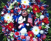 Lg. Patriotic Annalee Americana Wreath  Memorial Day 4th of July Presidents Day All Seasonal