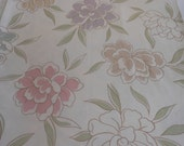 Handmade cotton print tablecloth 53 inches square pastel floral overlay wedding patio kitchen