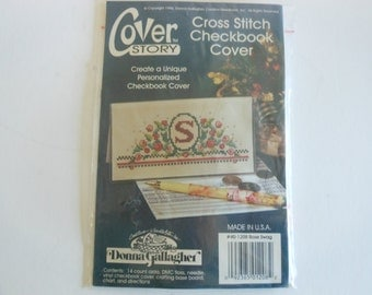 vintage cross stitch cross stitch checkbook cover kitDonna Gallagher complete kit unopened