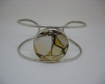 Mookaite Cabochon Sterling Bracelet One of a Kind