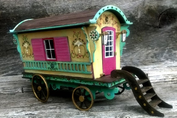 Gypsy Caravan Kit Build Your Own Gypsy Wagon Miniature