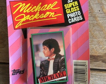 Vintage 1984 Michael Jackson Topps Collectible Photo Cards // Michael Jackson Collectible