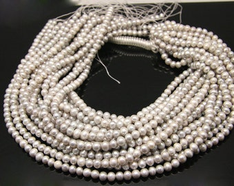 1strand - light gray fresh water pearl ball sized 6mm