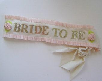 Bride to be Sash, bachelorette party sash