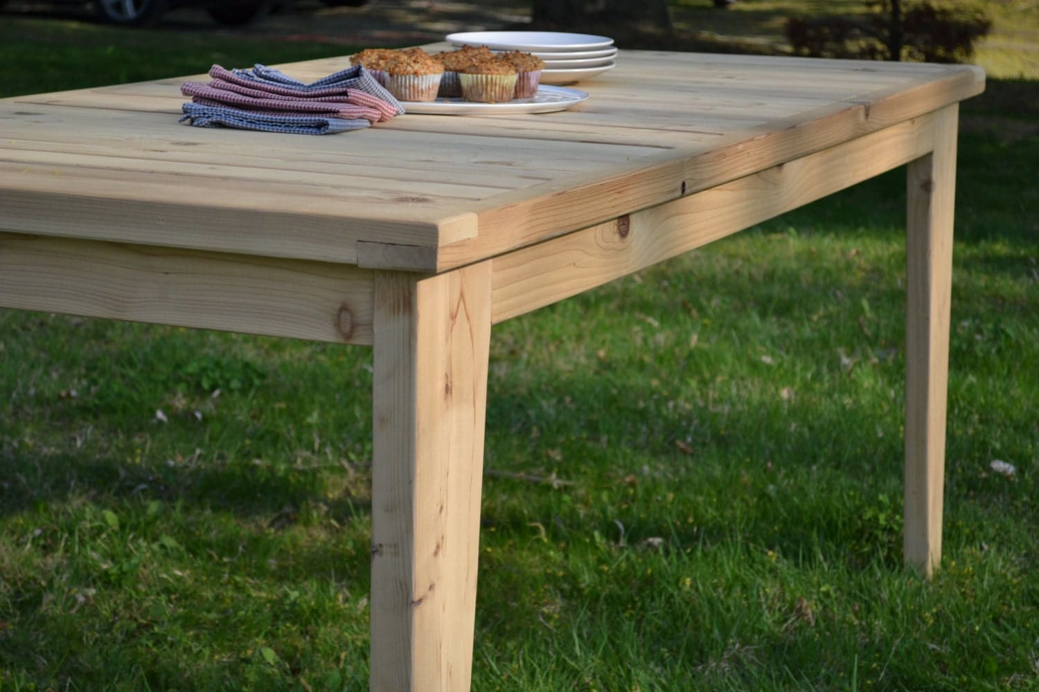 outdoor table cedar table dining table kitchen table cedar