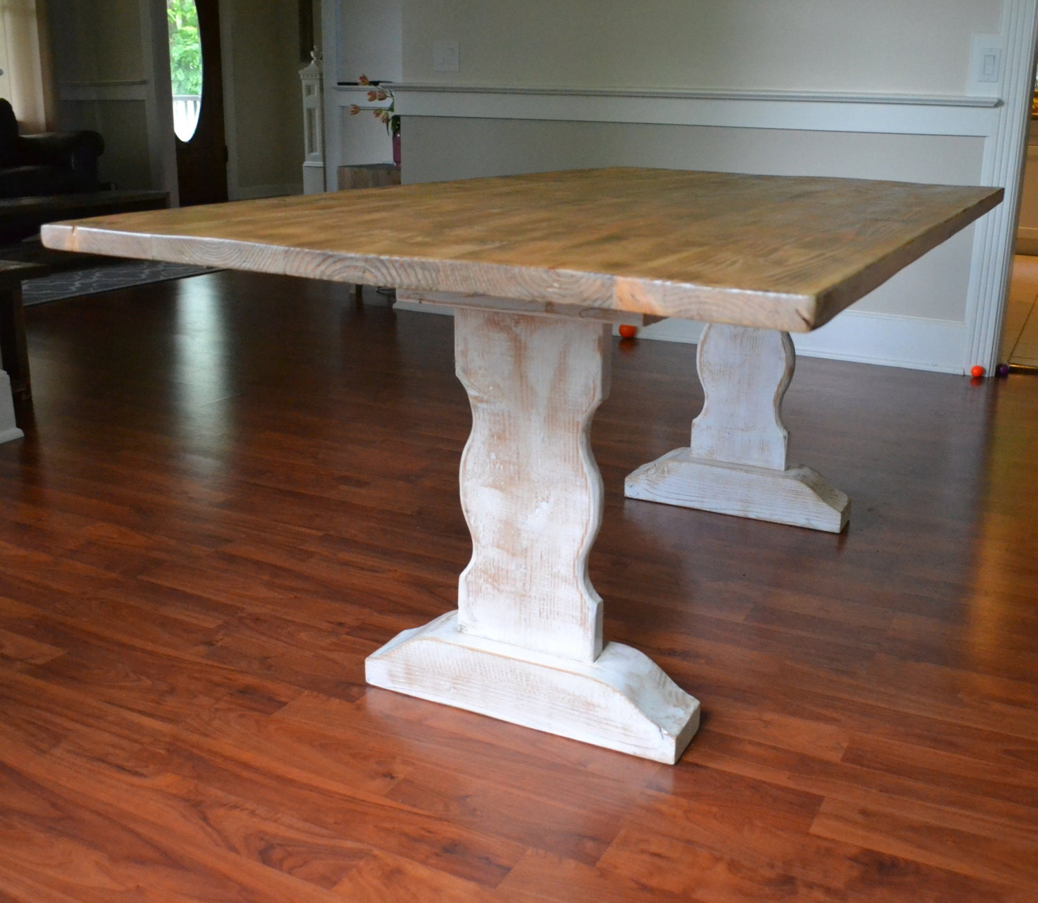 zoom. Farm Table Reclaimed Wood Dining Table Whitewash Dining