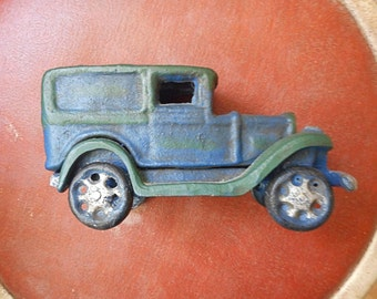 Vintage Truck Cast Iron Model T Delivery Truck