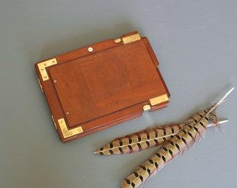 Antique Camera Plate Photo Frame - Antique Camera Equipment from England - Mahogany Photo Frame - Film Plate Holder