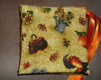 Signs of autumn drawstring gift bags