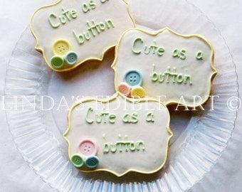 Cute as a Button Cookies (1 dozen)