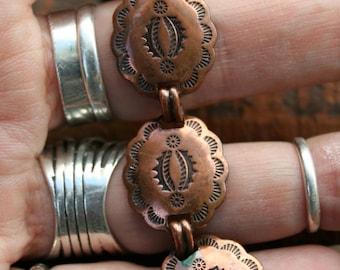 Vintage Southwestern Navajo Copper Bracelet