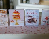 BAKING COOKBOOKS - Cookies Cakes - Dollhouse Miniature 1:12 Scale