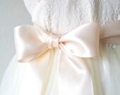 Blush Pink Ribbon Sash, Pale Pink Bridal Belt, Double Faced Satin Ribbon Belt, Light Peach Sash, Bridesmaid Sash, 2 1/4 Inch Wide