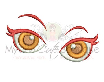 Eye Embroidery - Face Machine Embroidery Design - 4 Sizes - Instant Download