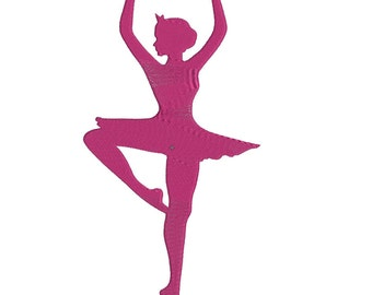 Ballet Embroidery Design - 3 Sizes - Instant Download