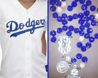 Cathiloc custom made Dodgers inspired rosary