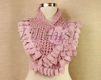 Pink Shrug Crochet Bolero, Boho Lace Bolero, Cape, Romantic Bridesmaid Flower Shrug, Bridal Shrug Bolero, Summer Wedding Cover Up / S-M-L