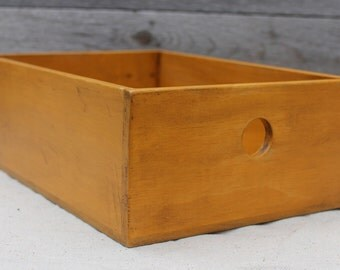 Wooden Box in Golden Ochre