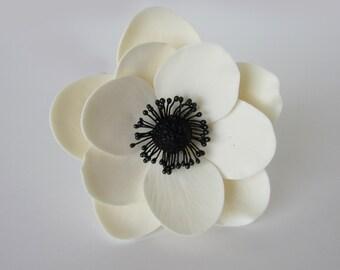 sugar anemone white set of 2