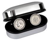 10th Anniversary gift for Men-2006 Coin Cufflnks-Genuine 2006 Coin Cufflinks-100% satisfaction guarantee