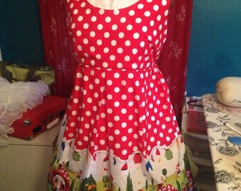 Gnome Dress - Michael Miller print - custom sizes