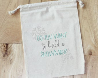 BUILD A SNOWMAN - Personalized Favor Bags - Set of 10 - birthday