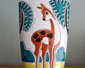 Midcentury modern made in Norway deer vase