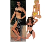 Vintage McCall's 9608, 1985 McCall's Pattern, Brooke Shields, Bikini Pattern, Swimsuit Pattern, Skirt Pattern, Misses Size 8, Bathing Suit