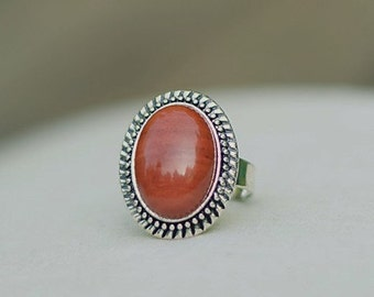 Red Jasper Ring Red Stone Ring Red Jasper Gemstone Ring Jasper Stone Ring Red Gemstone Ring Oval Red Ring Oval Red Jasper Oval Gemstone Ring
