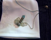 Natural Blue Apatite Silver Bullet Jewelry Pendant